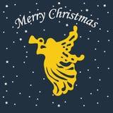 Weihnachtsengelsikone Lizenzfreies Stockfoto