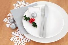 Weihnachtsessen-Gedeck Lizenzfreie Stockbilder