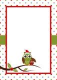 Weihnachtseulenkarte Stockfotografie