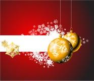 Weihnachtsfühler mit Schneeflocken Stockbild