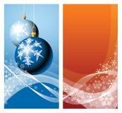 Weihnachtsfühler u. -schneeflocken Stockfotografie
