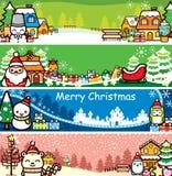 Weihnachtsfahne lizenzfreie stockfotos
