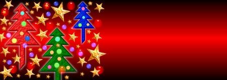 Weihnachtsfahne 2 Stockfotografie