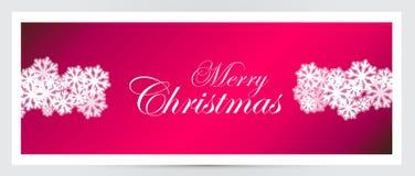 Weihnachtsfahne Lizenzfreie Stockbilder