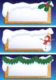 Weihnachtsfahne Stockfotografie