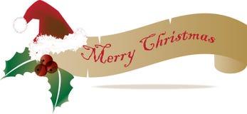 Weihnachtsfahne 2 lizenzfreie abbildung