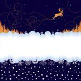 Weihnachtsfahne mit Ren Stockbild
