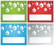 Weihnachtsfahne set1 lizenzfreie abbildung