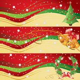 Weihnachtsfahnen vektor abbildung