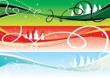 Weihnachtsfahnen 2 Stockfotos