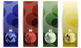 Weihnachtsfahnen Stockfotos