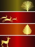 Weihnachtsfahnen Stockbild
