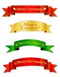 Weihnachtsfahnen/Fahne Stockbild