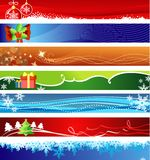 Weihnachtsfahnen mit Platz für Ihren Text Stockbilder
