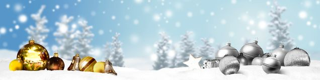Weihnachtsfahnen-Panoramahintergrund Stockfotos