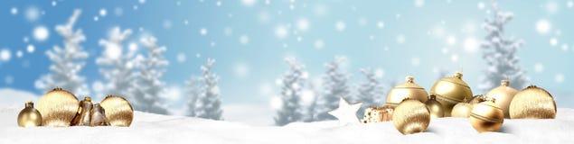 Weihnachtsfahnen-Panoramahintergrund Stockfoto