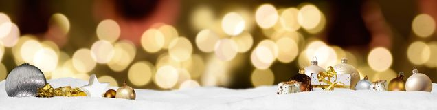 Weihnachtsfahnen-Panoramahintergrund Lizenzfreie Stockbilder