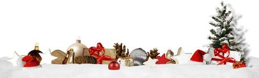 Weihnachtsfahnen-Panoramahintergrund Lizenzfreie Stockfotos