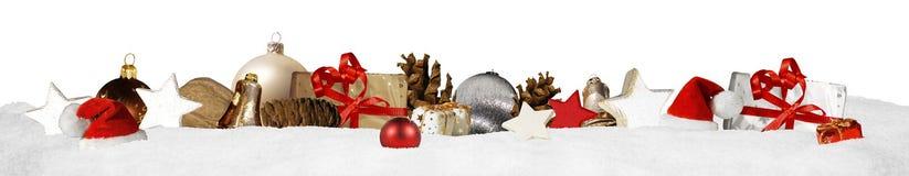 Weihnachtsfahnen-Panoramahintergrund Stockbild