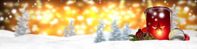 Weihnachtsfahnen-Panoramahintergrund Stockbilder
