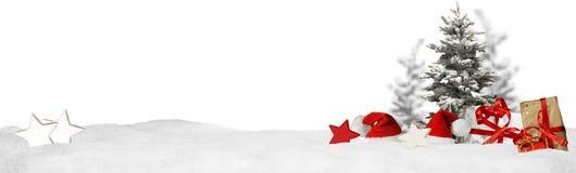 Weihnachtsfahnen-Panoramahintergrund Lizenzfreies Stockbild