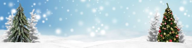 Weihnachtsfahnen-Panoramahintergrund Lizenzfreie Stockfotografie