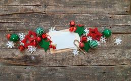 Weihnachtsfahnen-roter weißer Feiertag spielt Buchstaben Stockfotos