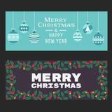 Weihnachtsfahnen-Satz Lizenzfreie Stockfotos