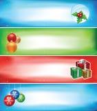 Weihnachtsfahnenset Lizenzfreie Stockfotos