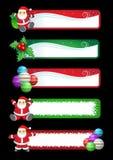 Weihnachtsfahnenset Lizenzfreies Stockbild