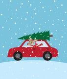 Weihnachtsfahrt lizenzfreie abbildung