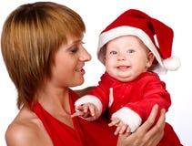 Weihnachtsfamilie Stockfoto