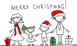 Weihnachtsfamilie, Vektor Lizenzfreies Stockfoto
