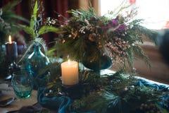 Weihnachtsfamilien-Abendtisch-Konzept stockfotografie