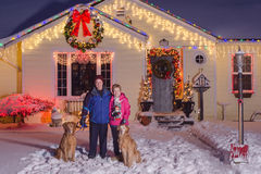 Weihnachtsfamilien-Porträt Lizenzfreie Stockfotos