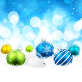 Weihnachtsfarbbälle Stockbilder