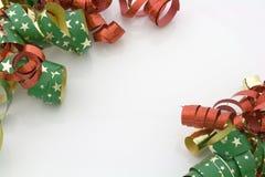 Weihnachtsfarbbänder lizenzfreie stockbilder