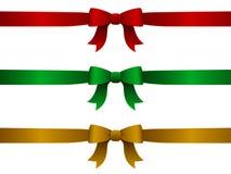 Weihnachtsfarbbänder Lizenzfreies Stockbild