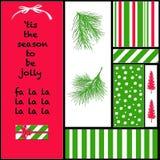 Weihnachtsfarben und -ikonen Lizenzfreie Stockbilder