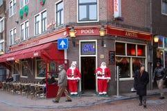 Weihnachtsfeier in Amsterdam Stockfotografie