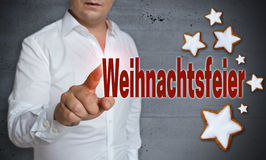 Weihnachtsfeier (in german Christmas Party) touchscreen is opera Royalty Free Stock Photography