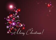 Weihnachtsfeierhintergrund Stockfotografie
