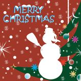 Weihnachtsfeierkarte Stockbild