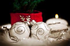 Weihnachtsfeiern stockbild