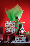 Weihnachtsfeiertag stellt Dekoration dar Lizenzfreies Stockfoto