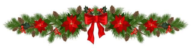 Weihnachtsfeiertags-Dekorationen lizenzfreie abbildung