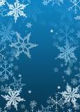 Weihnachtsfeiertags-Hintergrund Papierschneeflocken Lizenzfreie Stockfotos