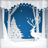 Weihnachtsfeiertags-Hintergrundszene stock abbildung