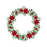 Weihnachtsfeiertags-Kranz-Ikone Stock Abbildung