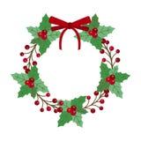 Weihnachtsfeiertags-Kranz-Ikone Lizenzfreie Abbildung